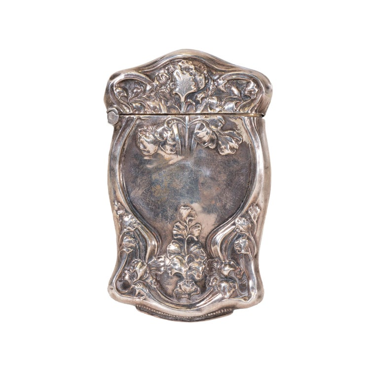 Collection of Six Art Nouveau Sterling Match Safes In Good Condition For Sale In Coeur d'Alene, ID
