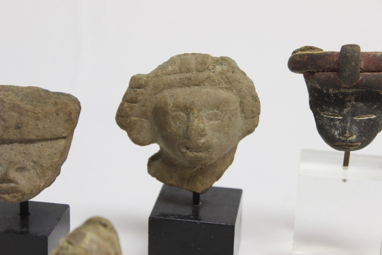 Collection of Six Precolumbian Pottery Figures In Good Condition For Sale In East Hampton, NY