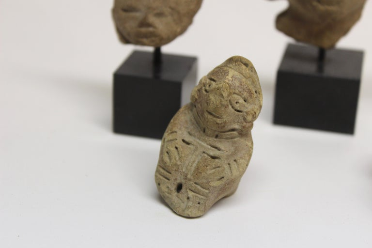 18th Century and Earlier Collection of Six Precolumbian Pottery Figures For Sale