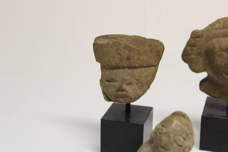 Stone Collection of Six Precolumbian Pottery Figures For Sale