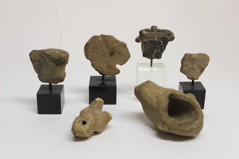 Collection of Six Precolumbian Pottery Figures For Sale 3
