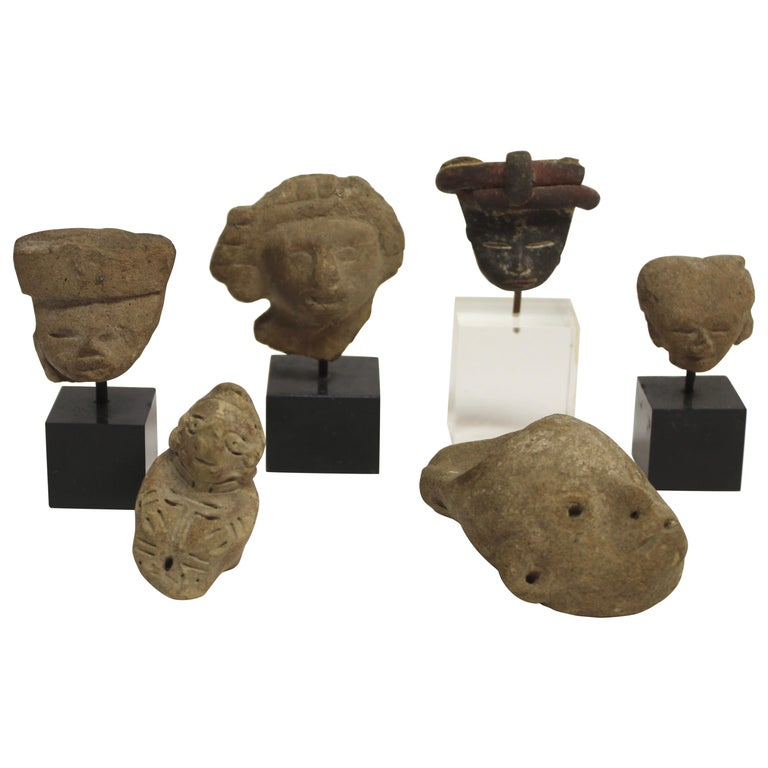 Collection of Six Precolumbian Pottery Figures For Sale