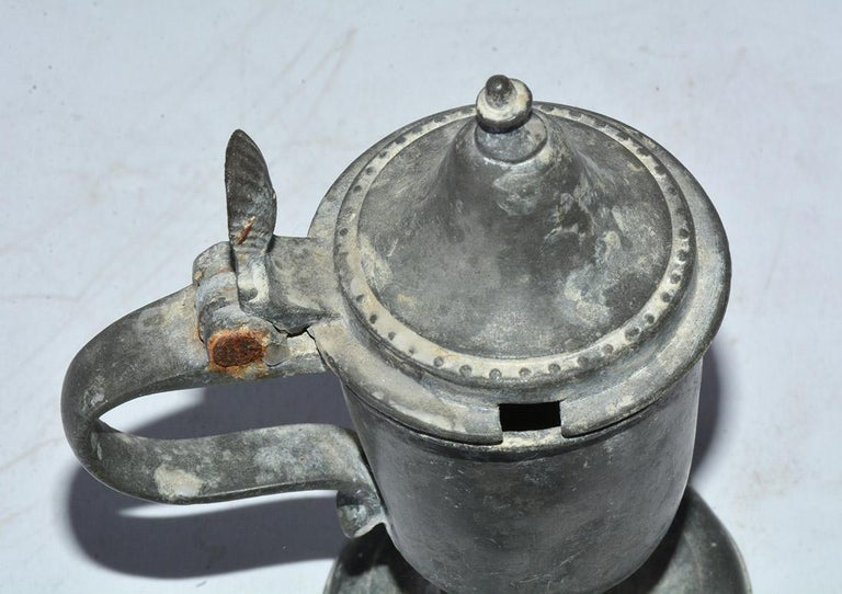 19th Century Collection of Small Early Pewter Cups and Jugs For Sale