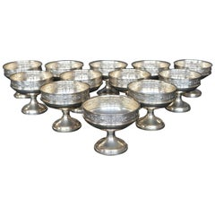 Collection of Sterling Silver Ice Cream Dishes
