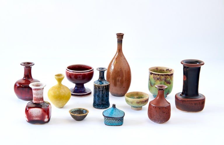 Collection of Stig Lindberg Miniature Studio Ceramics For Sale 4