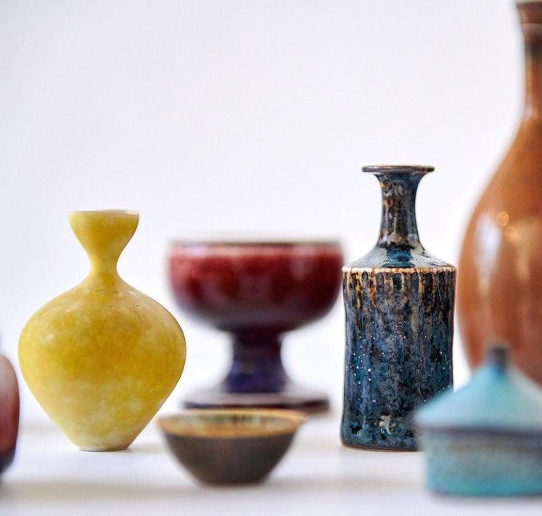 Scandinavian Modern Collection of Stig Lindberg Miniature Studio Ceramics For Sale