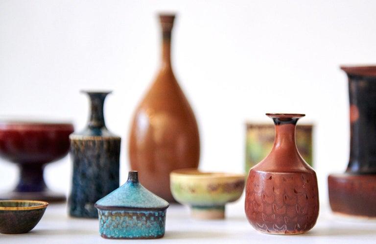 Mid-20th Century Collection of Stig Lindberg Miniature Studio Ceramics For Sale