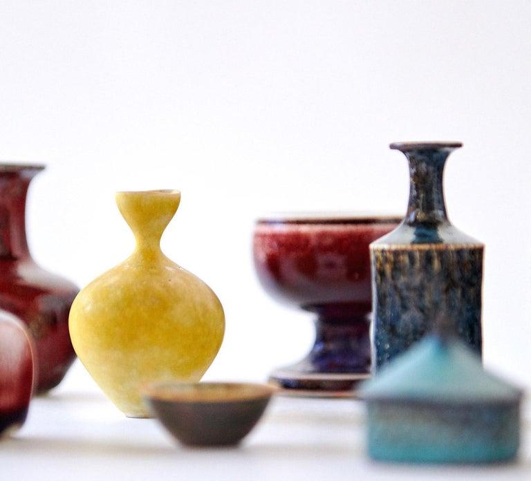 Stoneware Collection of Stig Lindberg Miniature Studio Ceramics For Sale