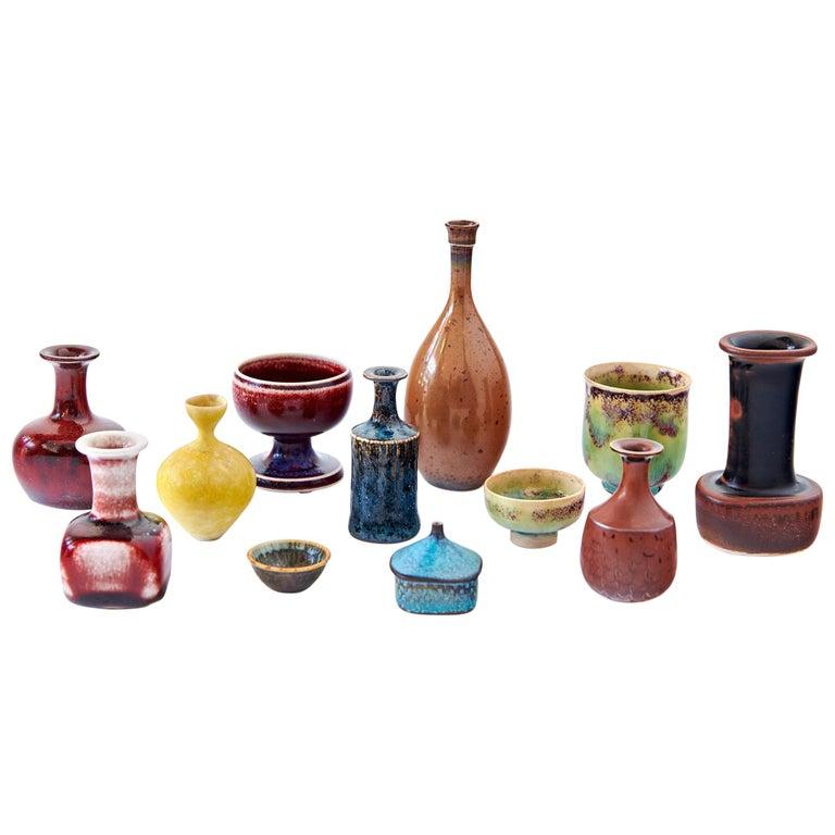 Collection of Stig Lindberg Miniature Studio Ceramics For Sale