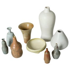 Collection of Stoneware Miniatures by Gunnar Nylund
