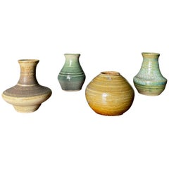 Collection of Studio Pottery Signed Weed Pots, circa 1980