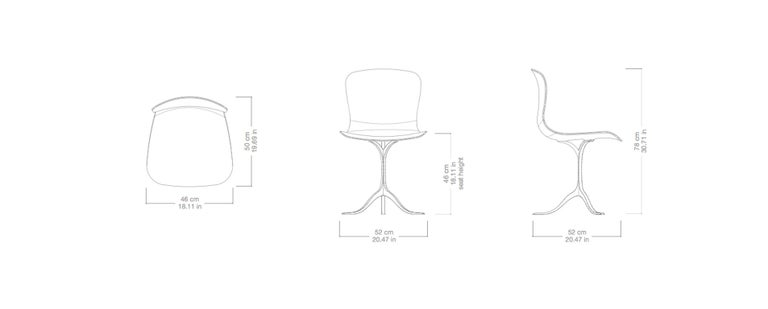 Collection of Ten Brass and Leather Chairs, Made to Order by P.Tendercool For Sale 2