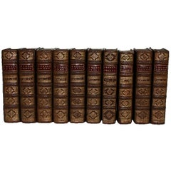 Collection of Ten French 18th Century Leather Books