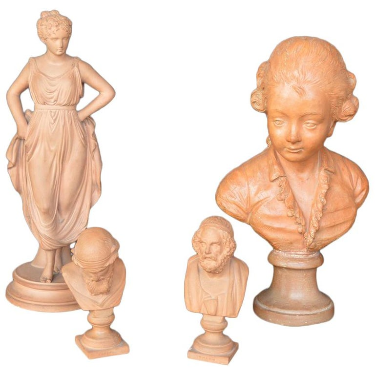 Collection of Terracotta Figurines For Sale