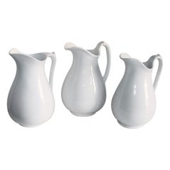 Collection of Three 19th Century Ironstone Water Pitchers