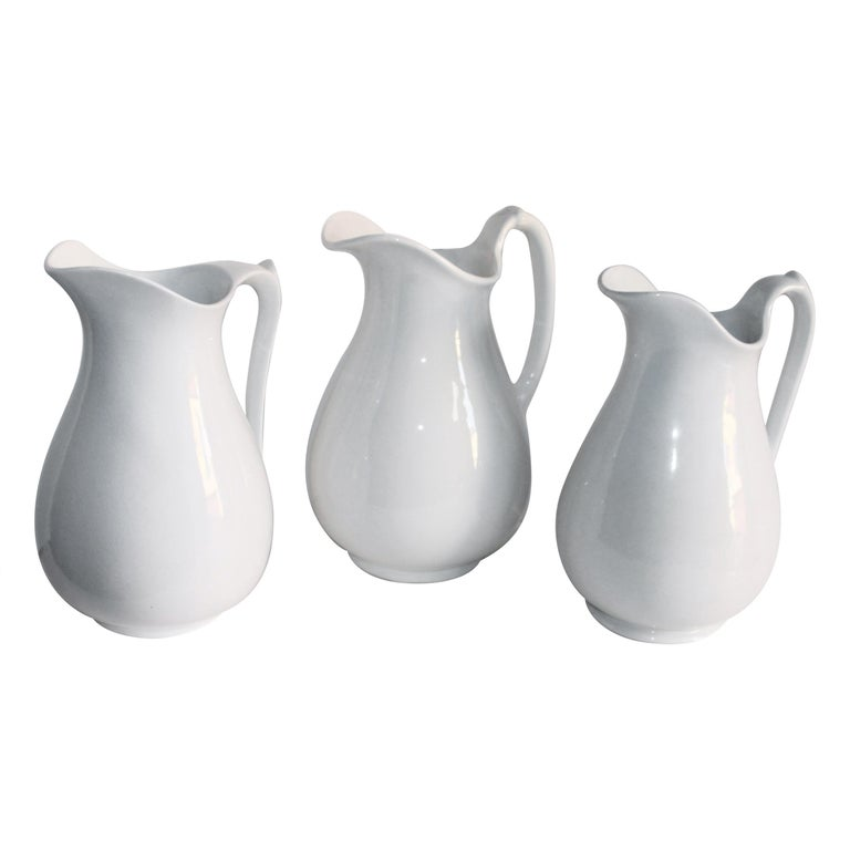 Collection of Three 19th Century Ironstone Water Pitchers For Sale