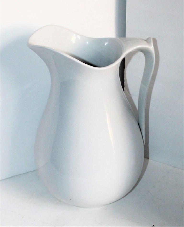 English Collection of Three 19th Century Ironstone Water Pitchers For Sale