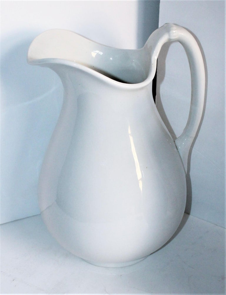 Machine-Made Collection of Three 19th Century Ironstone Water Pitchers For Sale