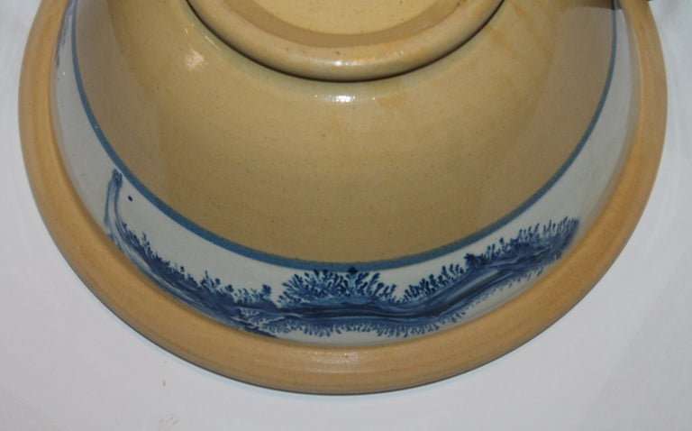 Collection of Three 19th Century Mocha Yellow Ware Bowls For Sale 6