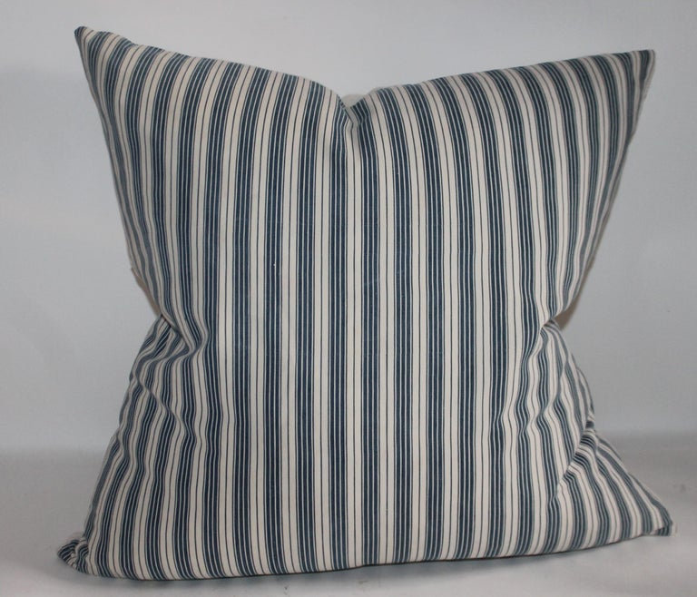 American Collection of Three Antique Ticking Pillows, 3 For Sale