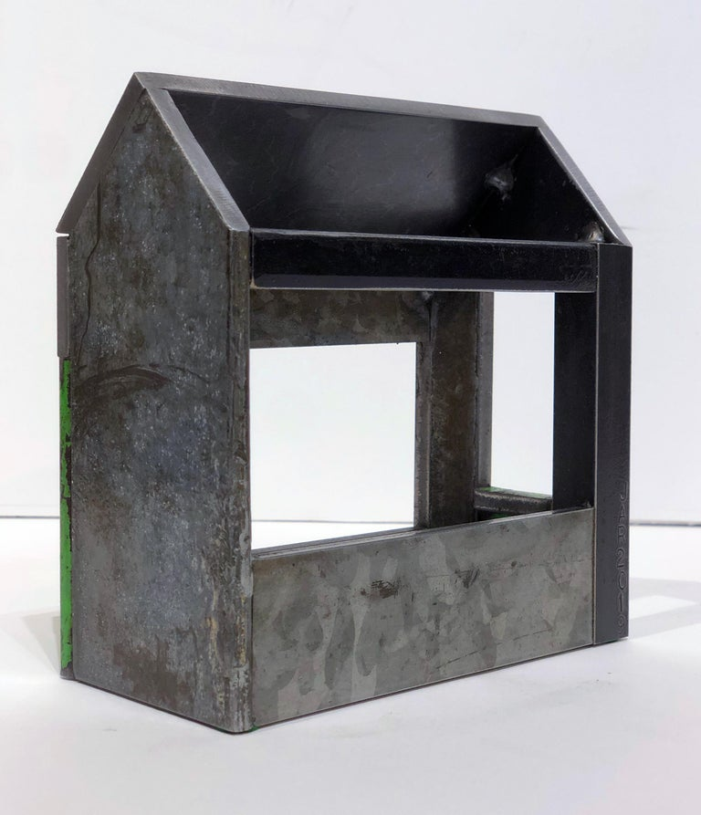 Collection of Three Barn House Structures by Jim Rose, Welded Salvaged Steel For Sale 8