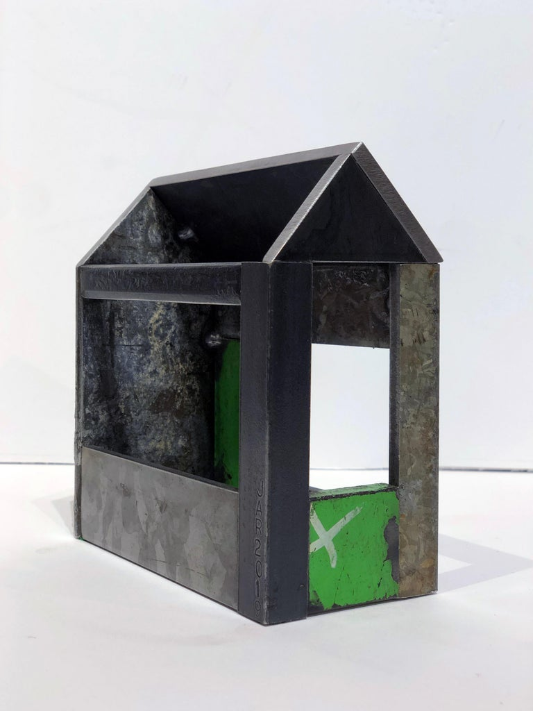 Collection of Three Barn House Structures by Jim Rose, Welded Salvaged Steel For Sale 9