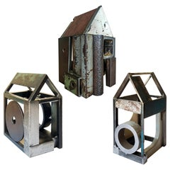 Collection of Three Barn House Structures by Jim Rose, Welded Salvaged Steel