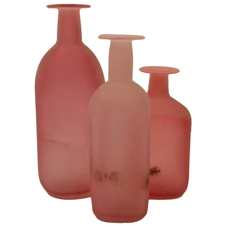 Collection of Three Cenedese Scavo Vases For Sale