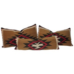 Collection of Three Early Navajo Indian Weaving Pillows