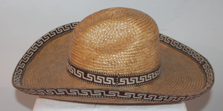 Collection of Three Handmade Sombreros For Sale 5