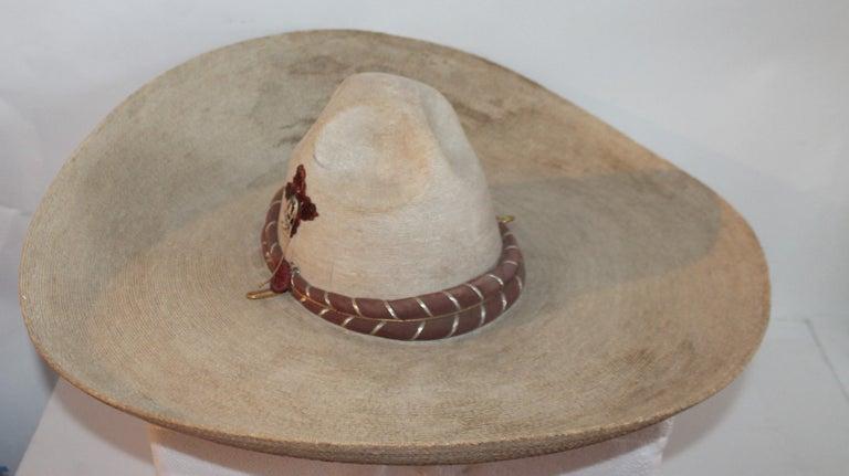 Adirondack Collection of Three Handmade Sombreros For Sale