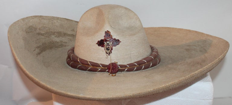 Hand-Crafted Collection of Three Handmade Sombreros For Sale