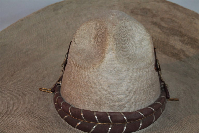 Collection of Three Handmade Sombreros In Good Condition For Sale In Los Angeles, CA