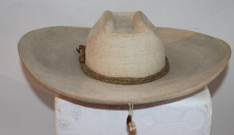 Hemp Collection of Three Handmade Sombreros For Sale