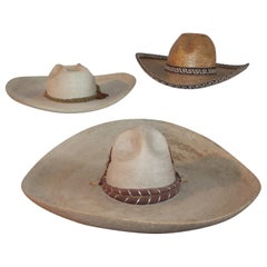 Collection of Three Handmade Sombreros