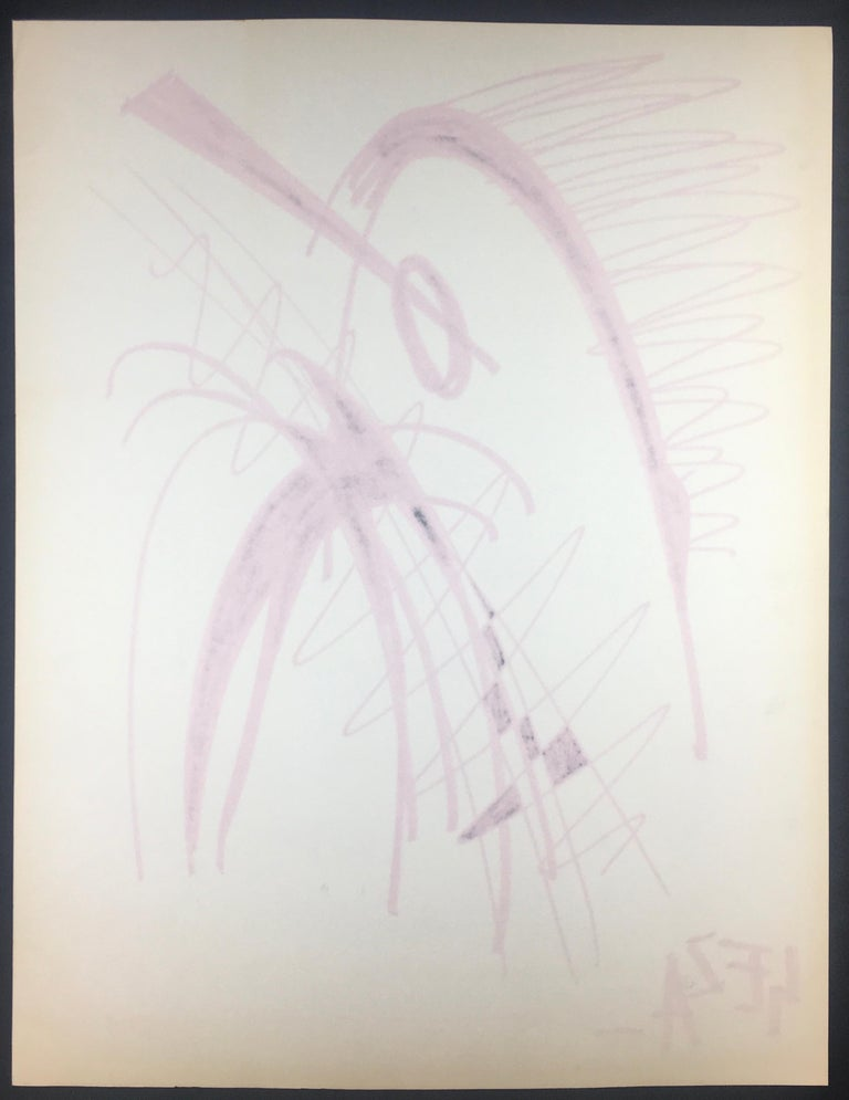 Paper Collection of Three Modern Abstract Drawings Signed Geza, Manner of Franz Kline For Sale
