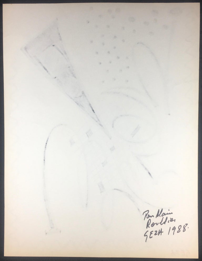 Collection of Three Modern Abstract Drawings Signed Geza, Manner of Franz Kline For Sale 2