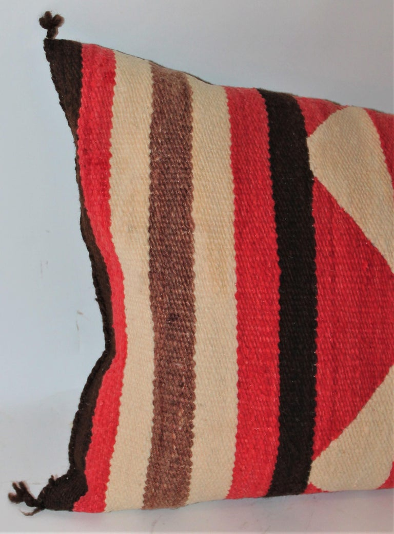 Collection of Three Navajo Saddle Blanket Bolster Pillows For Sale 2