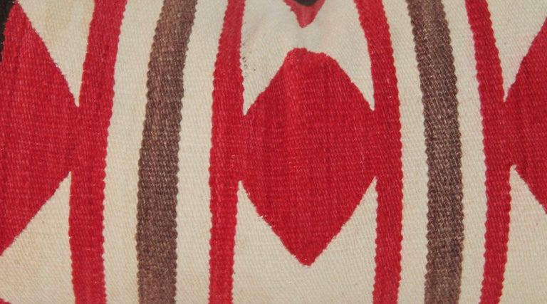 Collection of Three Navajo Saddle Blanket Bolster Pillows For Sale 3