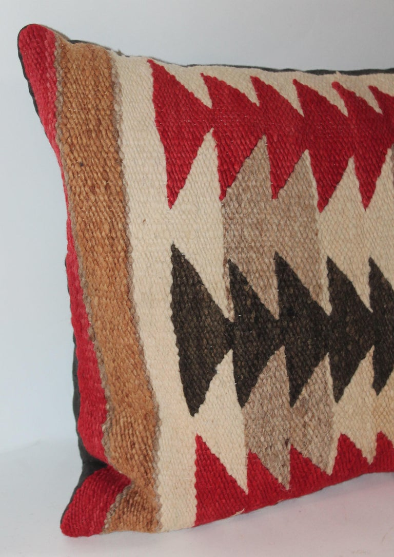 Collection of Three Navajo Saddle Blanket Bolster Pillows For Sale 4