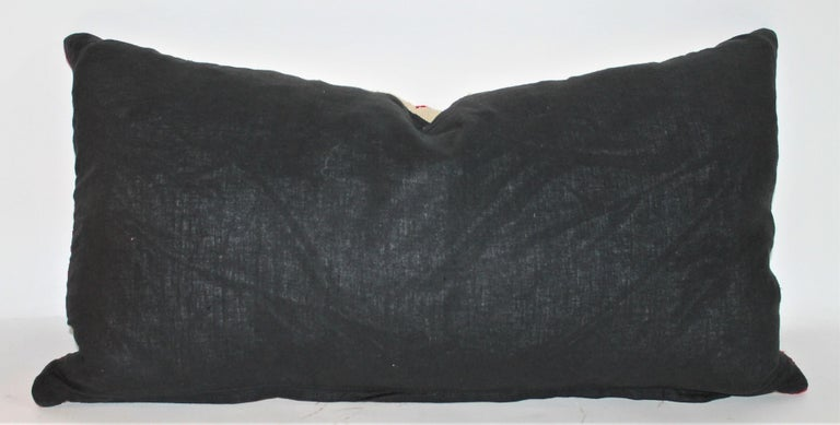 Collection of Three Navajo Saddle Blanket Bolster Pillows For Sale 6