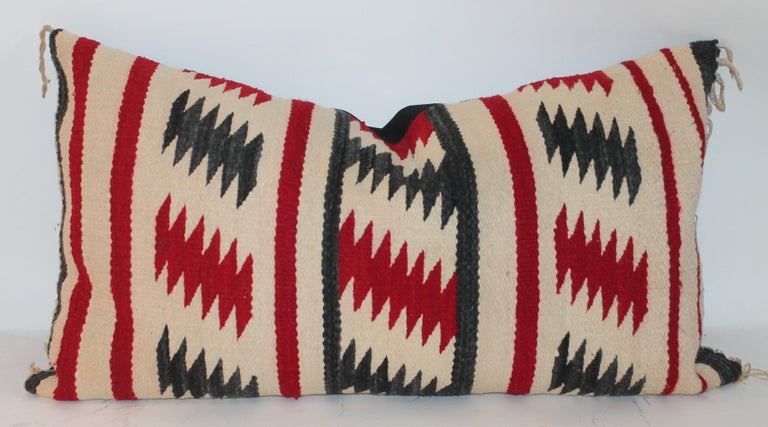 American Collection of Three Navajo Saddle Blanket Bolster Pillows For Sale