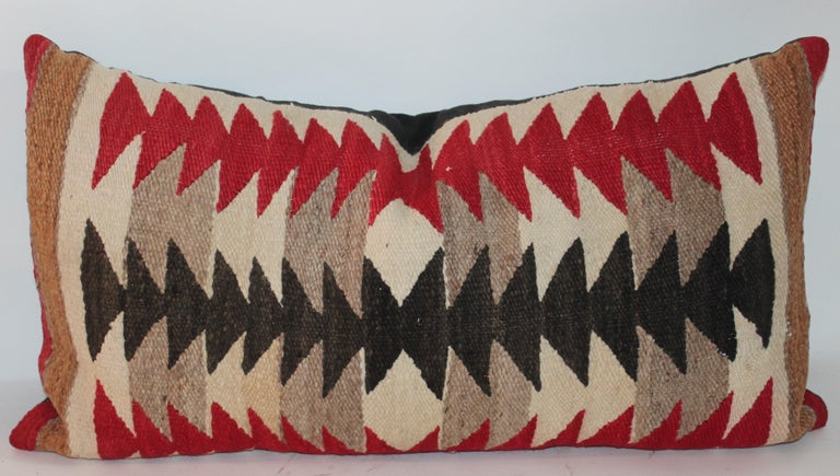 Collection of Three Navajo Saddle Blanket Bolster Pillows In Good Condition For Sale In Los Angeles, CA
