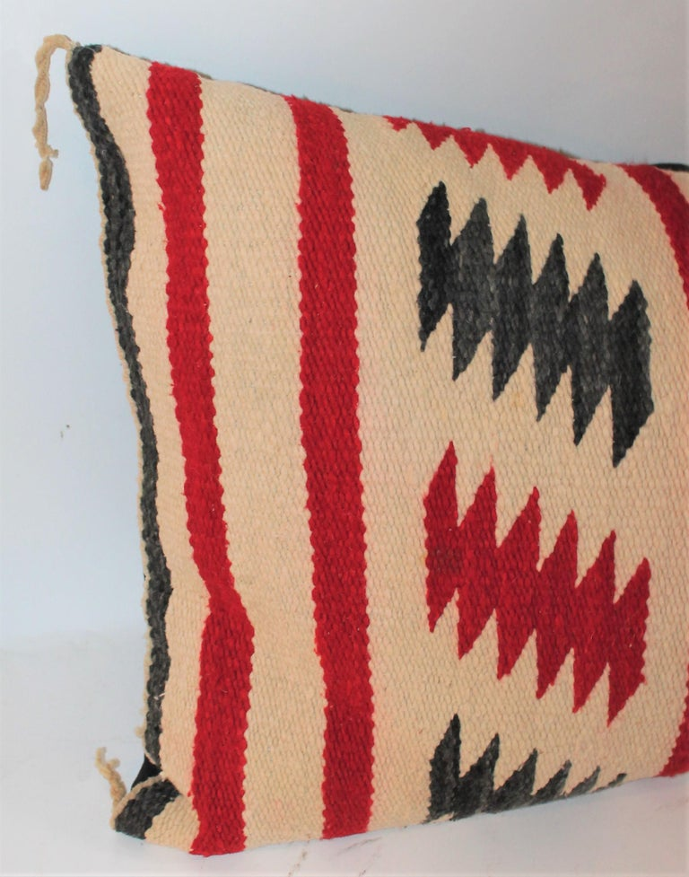 20th Century Collection of Three Navajo Saddle Blanket Bolster Pillows For Sale