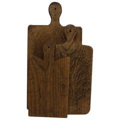 Collection of Three Rare French, 19th Century, Wooden Chopping/Cutting Boards