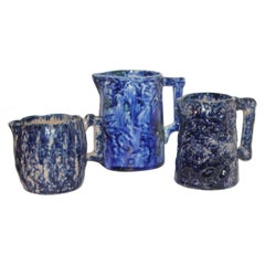 Collection of Three Sponge Ware Pitchers, 3