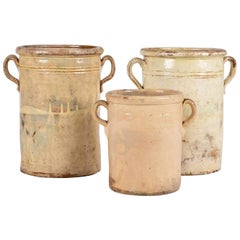Collection of Three Yellow Glazed Jars