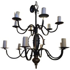 Collection Of Tommy Hilfiger Wrought Iron Chandelier