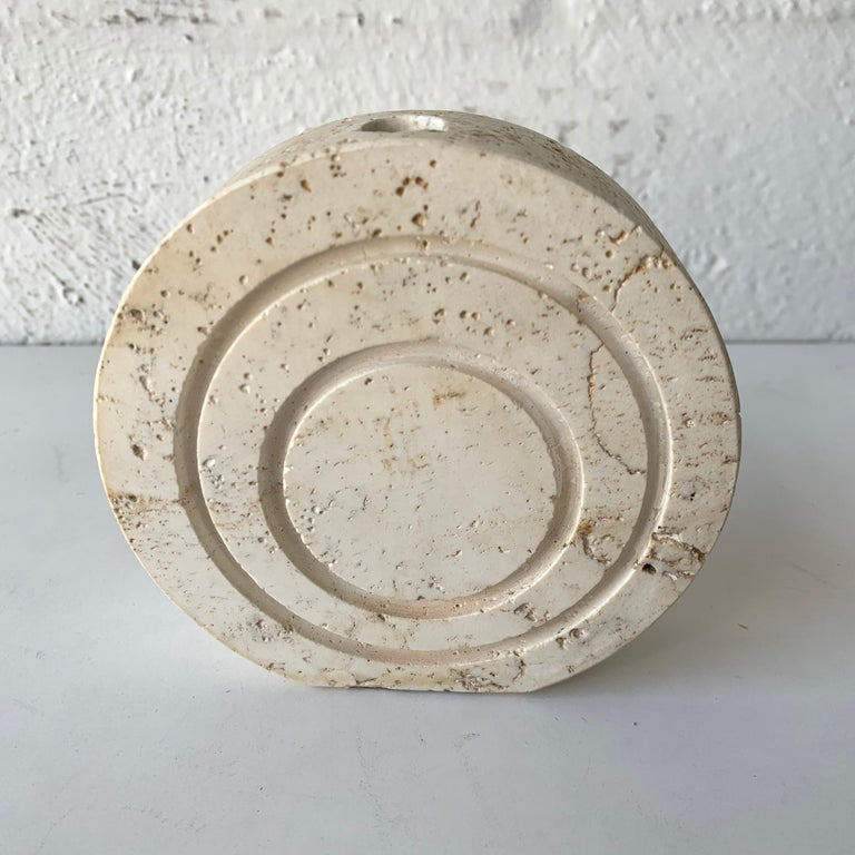 Collection of Travertine Objects by F. Lli Mannelli, for Raymor, Italy, 1960s For Sale 4