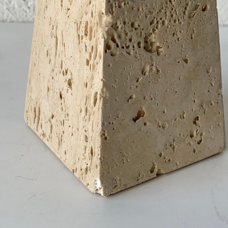 Collection of Travertine Objects by F. Lli Mannelli, for Raymor, Italy, 1960s For Sale 8